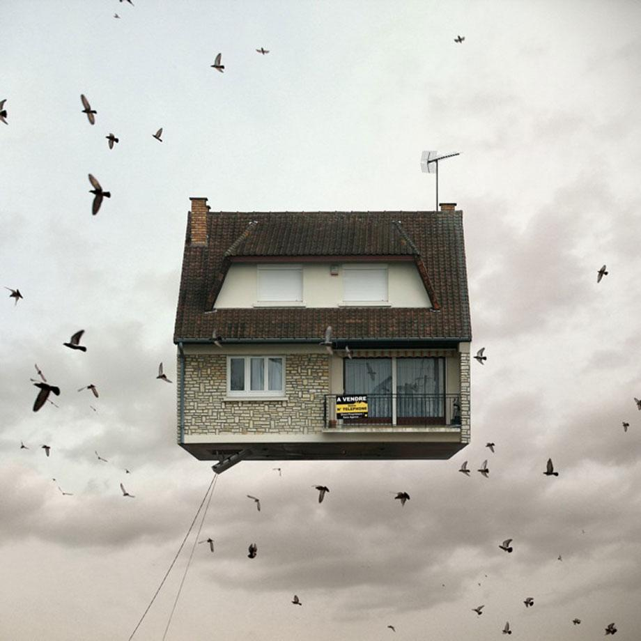 Flying Houses by Chehere