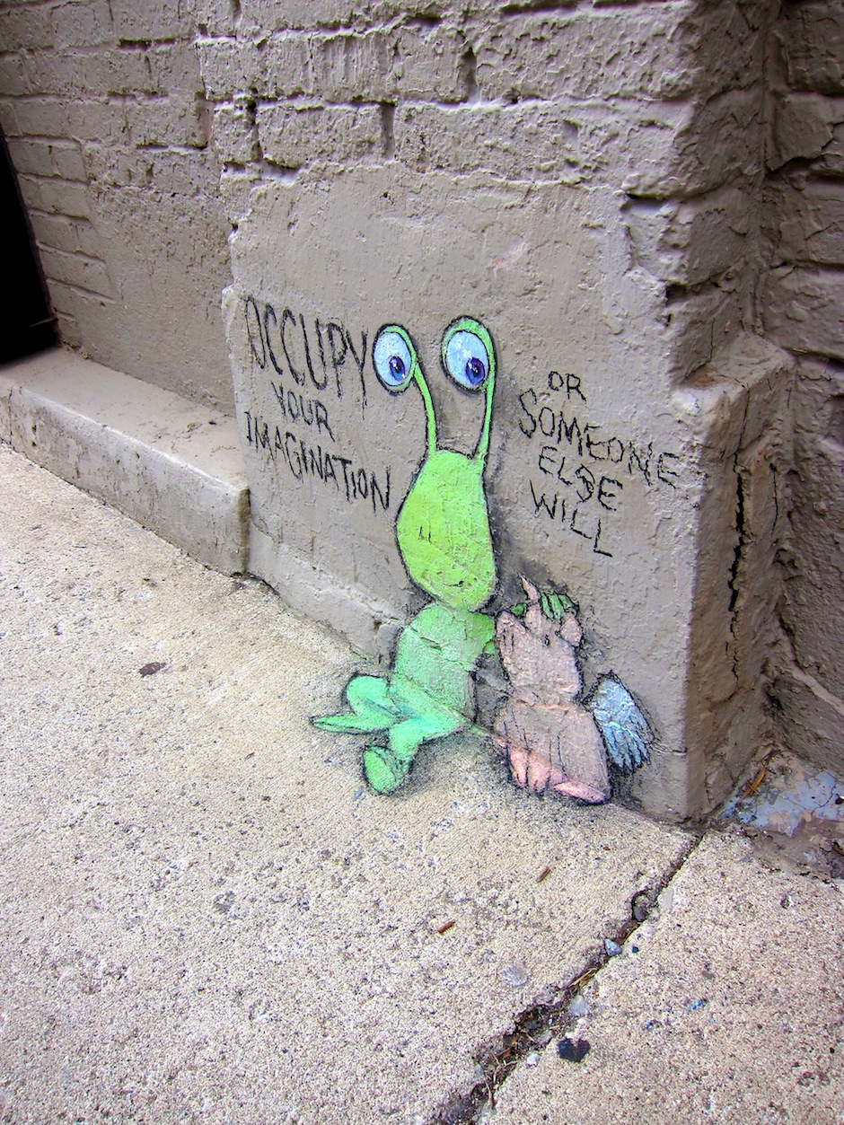 Occupy your Imagination1 by David Zinn
