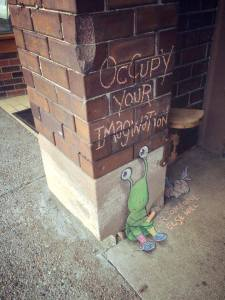 Occupy your Imagination2 by David Zinn