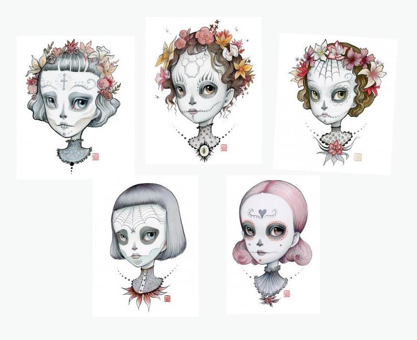 dia de los muertos(sugar skull)1 by Mab Graves
