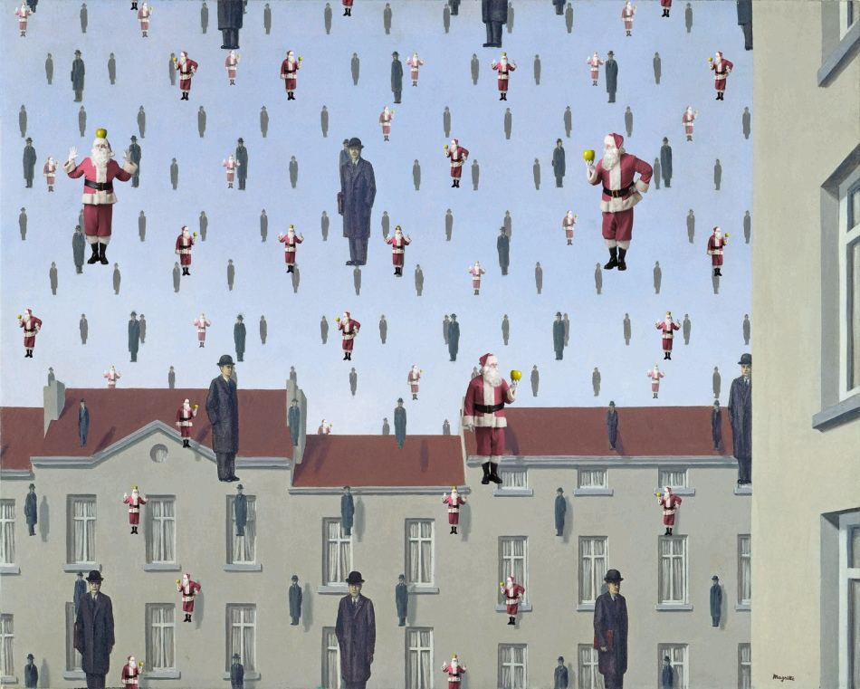 Santa Classics (Magritte - Golconda) by Ed Wheeler