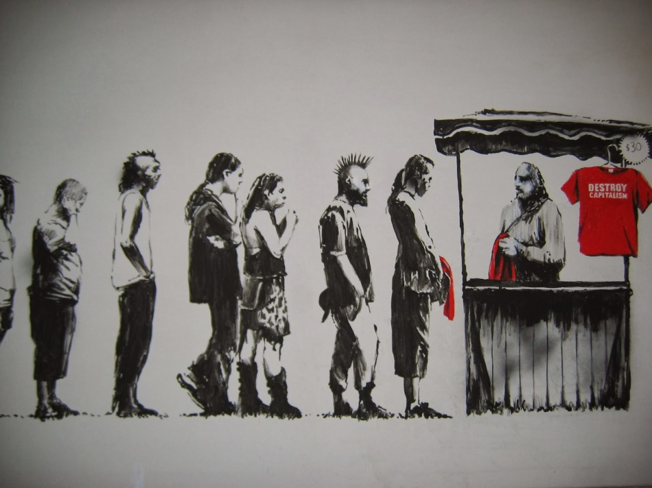 destroy capitalism by banksy