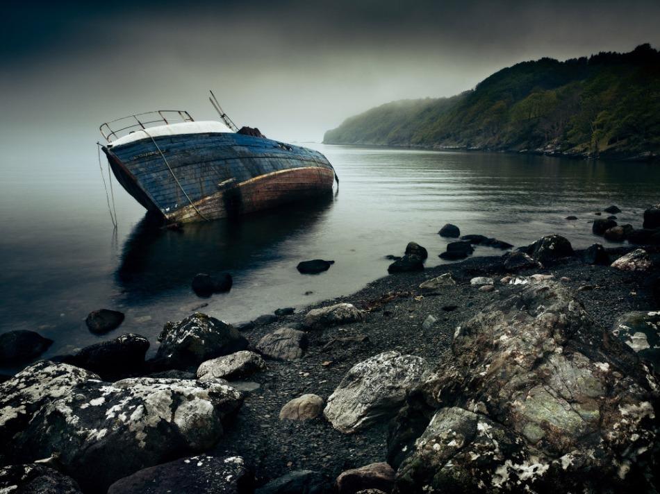 abandoned fishing vessel