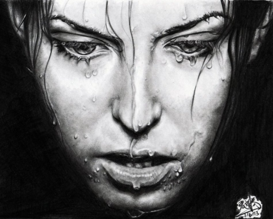 pencil_drawing_of_a_girl_with_wet_face_by_chaseroflight