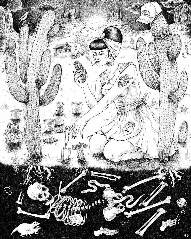 Rita's Garden by Kjersti Faret