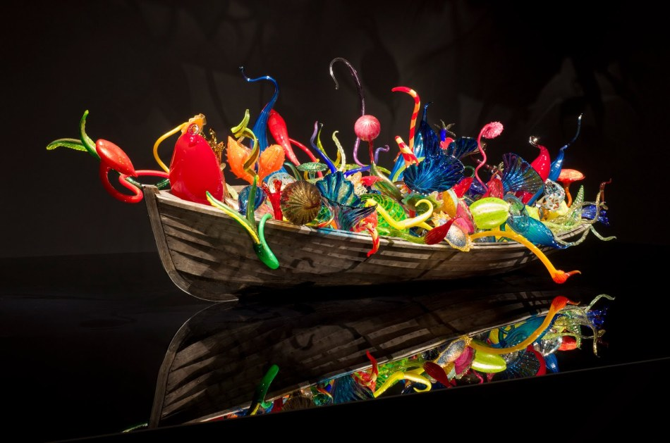 Ikebana Boat by Dale Chihuly