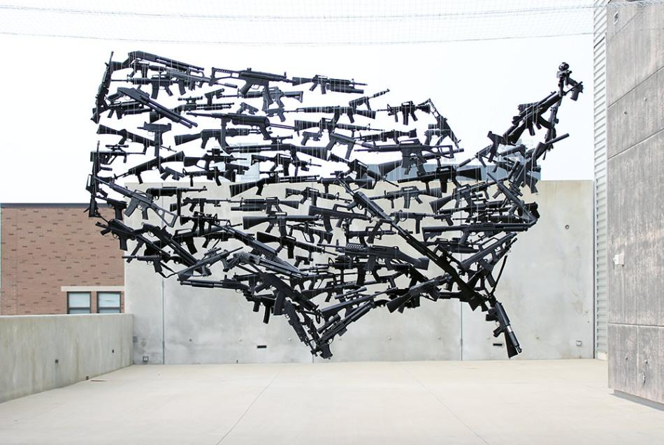 gun country installation by michael murphy