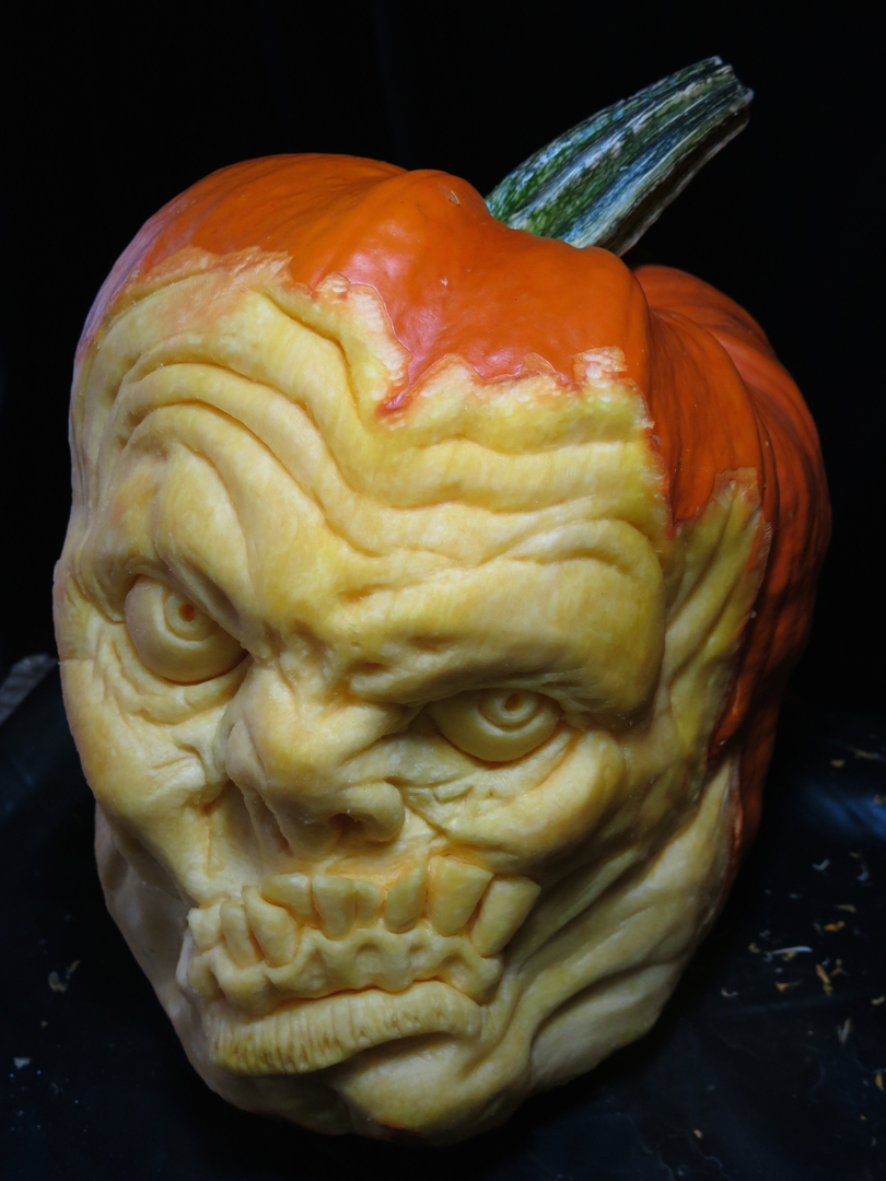 scary pumpkin by John Neill