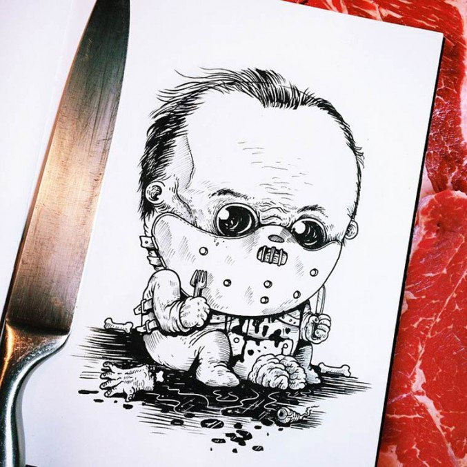 baby terrors(Baby Hannibal Lecter) by Alex Solis
