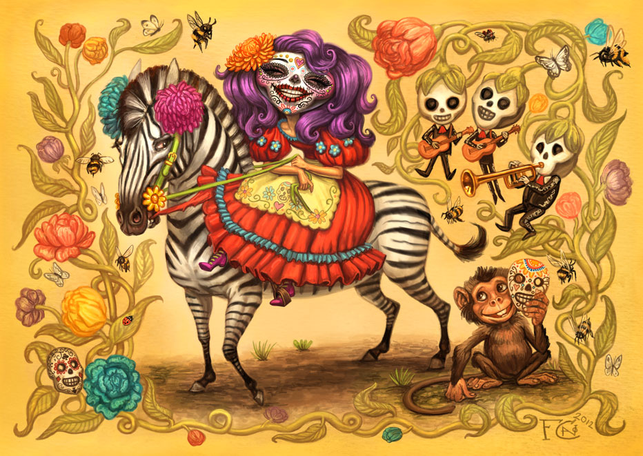 day of the dead by Felicia Cano