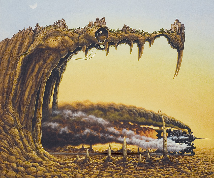 dragon's pleasire by Jacek Yerka