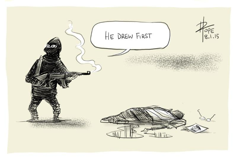 he drew first by David Pope