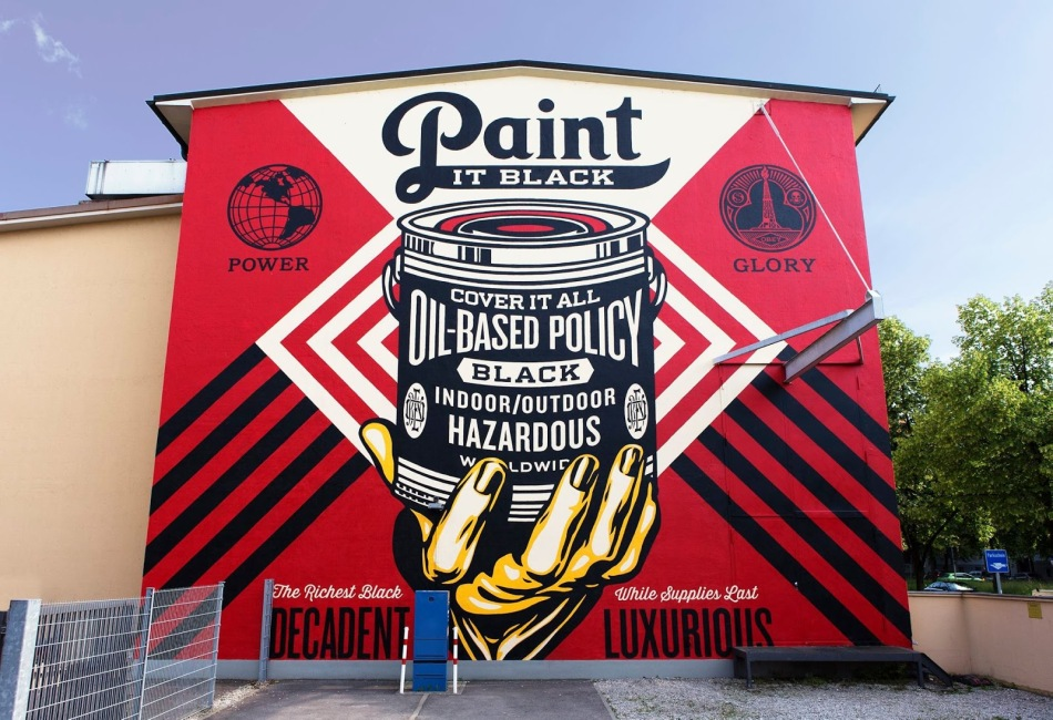 Paint It Black by Shepard Fairey