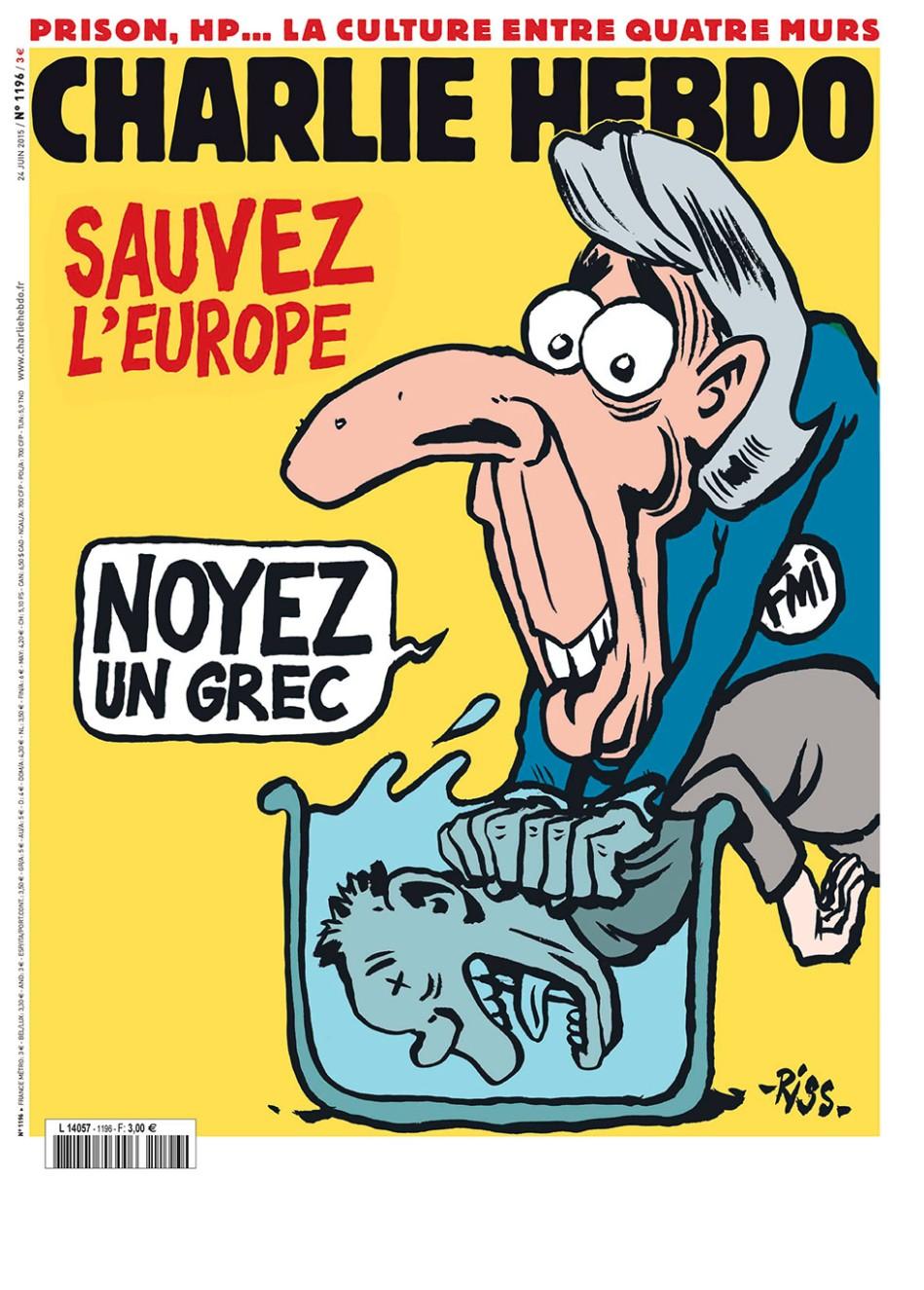 sauvez l'Εurope, noyez un Grec by Riss
