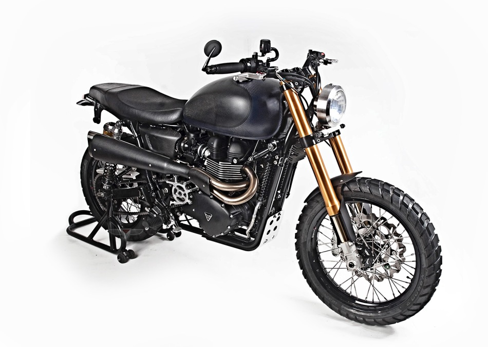 Triumph Scrambler Black Orchid by White Collar bike