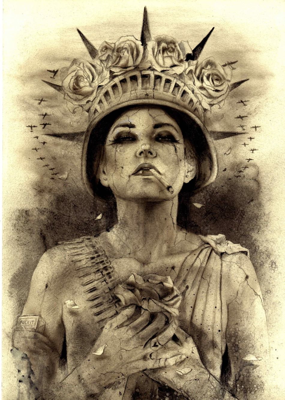 Statue of Libertease by Brian M. Viveros